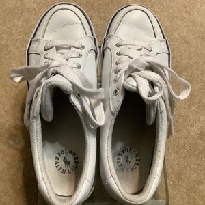 POLO Ralph Lauren White Leather Sneakers